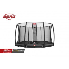 BERG Champion interrato rotondo 330cm - grigio - Deluxe