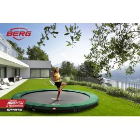 BERG Champion interrato rotondo 330cm - verde - senza rete di sicurezza (Sport)