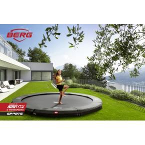 BERG Champion interrato rotondo 430cm - grigio - senza rete di sicurezza (Sport)
