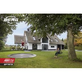 BERG Champion interrato rotondo 430cm grigio - senza rete di sicurezza