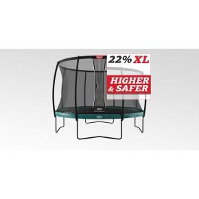 BERG Elite fuoriterra rotondo 330cm verde con rete di sicurezza XL